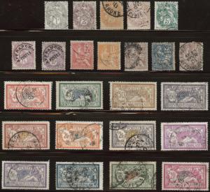 FRANCE Scott 109-132 complete set of 24 issued between 1909-21 CV $174.20