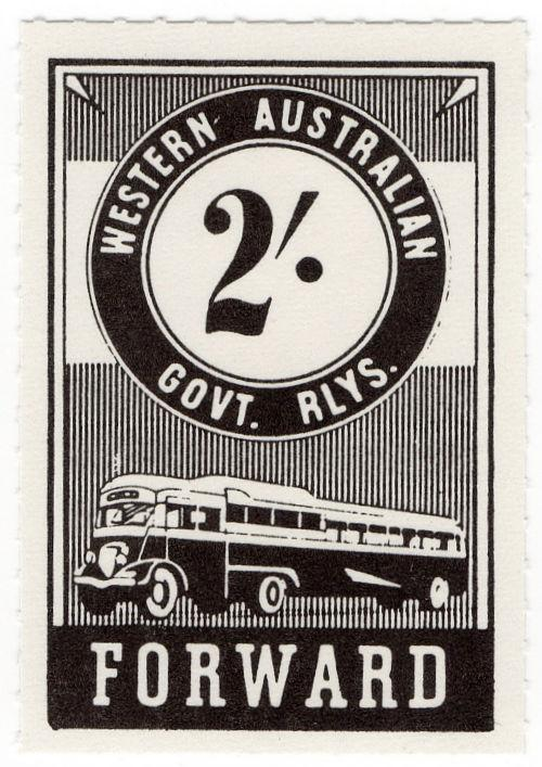 (I.B) Australia - Western Australia Railways : Parcels 2/-
