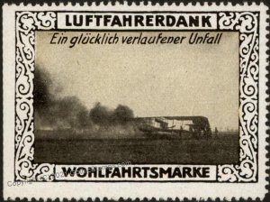 Germany WWI Air Force Accident Memorial Luftfahrerdank Flight MNH  Cinde G102805