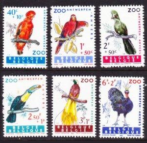 Belgium #B712-7 MH semipostal birds