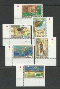 W1330 BELIZE ART CULTURE FOLKLORE CHRISTMAS 1991 #1078-83 MICHEL 17 EURO SET FIX