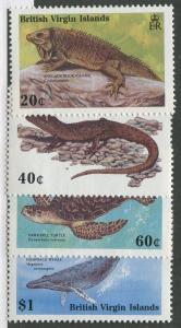 BRITISH VIRGIN ISLANDS #625-629 MINT SET NH