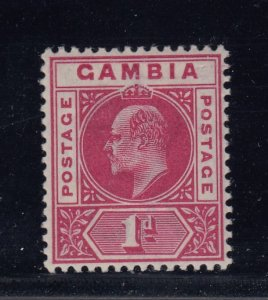 Gambia, SG 46 var, MLH Slotted Frame variety