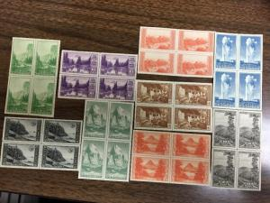 756-65 Farley Center Line Blocks. Superb Mint NH Catalogues $175.
