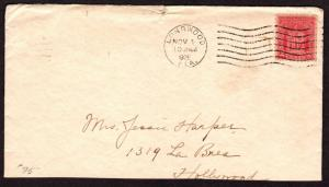 $Florida Machine Cancel Cover, Longwood, 11/1/1929, 1 recorded impression