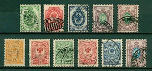 Finland 1901/11 range of issues similar to Russian types but values in FU Stamps
