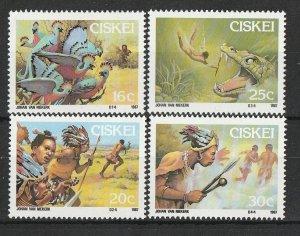 Ciskei MNH 114-7 Folklore 1981