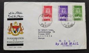 *FREE SHIP Malaya Inauguration Of Parliament 1959 Malaysia (FDC) *addressed