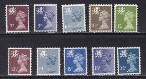 Great Britain - Wales # WMMH8 / 40, Machin Head, Mint NH