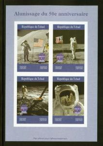 CHAD 2019 50th ANNIVERSARY OF THE MOON LANDING  SHEET IMPERFORATE   MINT NH