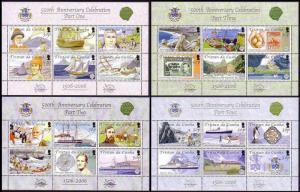 Tristan da Cunha Quincentenary 4 Sheetlets SG#MS849+MS865