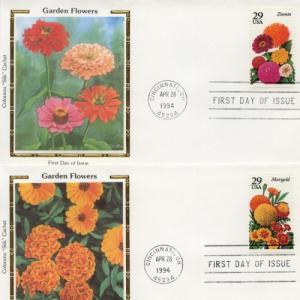 1994 Garden Flowers Set of 5 (Scott 2829-33) Colorano FDC