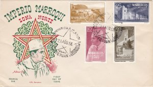 Morocco - Northern Zone # 1-4, Views, First Day Cover