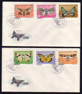 Caribbean Area, Scott cat. 2256-2261. Moths on 2 First day covers.