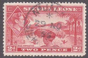 SIERRA LEONE 1955 GVI 2d - N'JALA cds.......................................7121