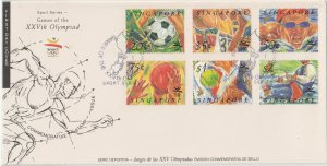 Singapore 1992 Games of the XXVth Olympiad FDC SG#681-686