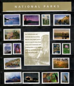 5080 (a-p) National Parks Centennial Complete Set Of 16 Singles & Panels