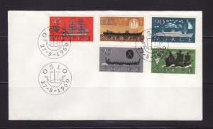 Norway 382-386 Set FDC Ships (A)