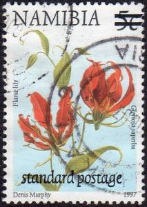 Namibia 959 - Used - (65c) on 5c Flame Lily (2000) (cv $0.40) (1)