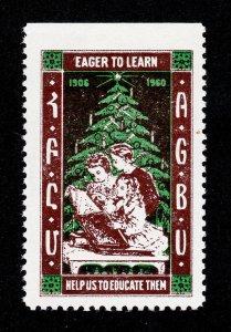 AGBU 'EAGER TO LEARN' ARMENIAN REKLAMEMARKE POSTER STAMP SEAL 1960 MNH-OG