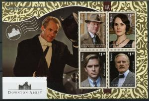 Tuvalu 2014 MNH Downton Abbey Sir Richard Carlisle Dr Clarkson 4v M/S TV Stamps