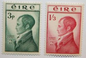 Ireland Scott 149-50 MH* 1953 Robert Emmet set CV $53