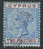Cyprus SG 43  Used blue & purple