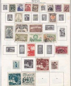 MEXICO ^^^^^1944-46   hinged & used  on page  $$@  ha 2055xxbmex