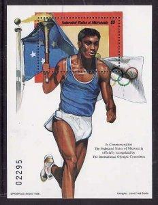 Micronesia-Sc#288- id7-unused NH sheet-Sports-Olympics-1998-