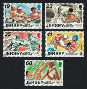 Jersey Boxing Judo Rowing Basketball Fencing Sporting Anniversaries 5v