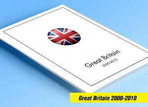 COLOR PRINTED GREAT BRITAIN 2000-2010 STAMP ALBUM PAGES (140 illustrated pages)