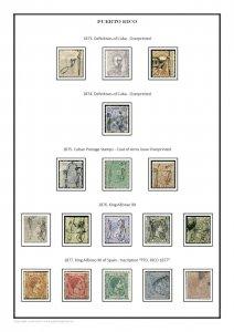 Puerto Rico 1878 - 1900 PDF (DIGITAL) STAMP ALBUM PAGES