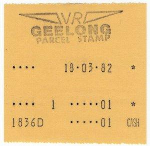 (I.B) Australia - Victoria Railways : Cash Register Parcel (Geelong)