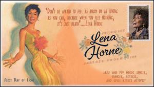 18-026, 2018, Lena Horne, Digital Color, Postmark, FDC, Black Heritage