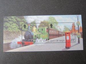 Isle Of Man 1998 Sc 785 Train set MNH