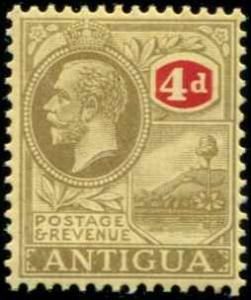 Antigua SC# 59 SG# 59 King George V 4d  wmk 3 MVLH