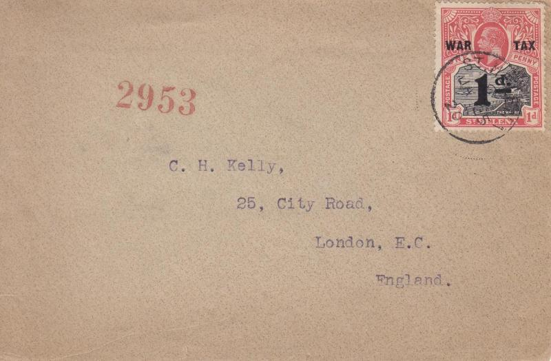 1920, St Helena to London, England, See Remark  (22226)