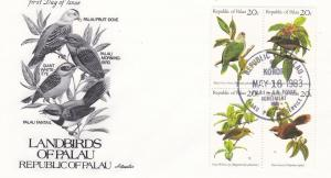 Palau # 8a, Landbirds of Palau, First Day Cover