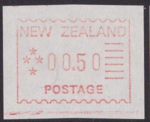 NEW ZEALAND 1984 Frama machine Trial - 50c MNH..............................5299