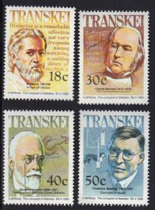 Transkei 1990 MNH celebrities of medicine complete