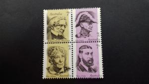Australia 1973 Famous Australians Mint