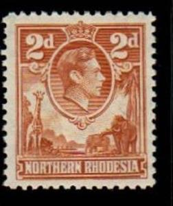 Northern Rhodesia Scott 31 Mint hinged (Catalog Value $45.00)
