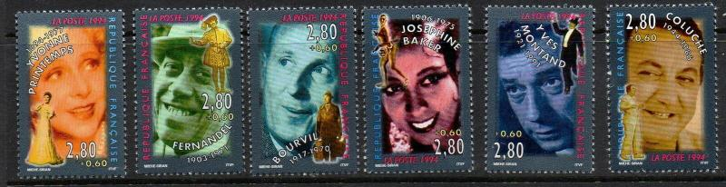 FRANCE SG3219/24 1994 ENTERTAINERS MNH