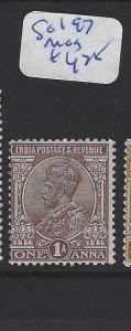 INDIA   (P2509B)  KGV   1A  SG 197   MOG