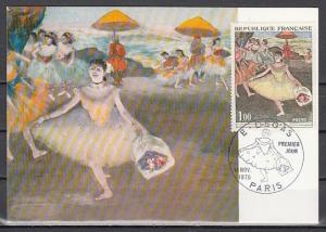 France, Scott cat. 1276. Ballet Dancer issue. Maximum Card. ^