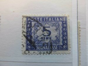 A13P20F17 Italien Italie Italy 1947-54 5L fine used postage due stamp