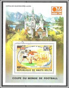 Upper Volta #C196 Airmail Souvenir Sheet CTO