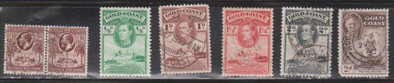 GOLD COAST Selection Of Used Stamps - KGV & KGVI