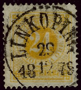Sweden SC#24a Used F-VF SCV$35.00...Real Deal!!