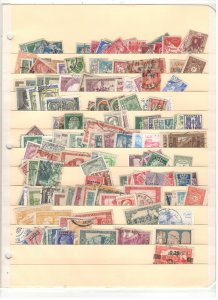 ALGERIA COLLECTION ON STOCK SHEET, MINT/USED
